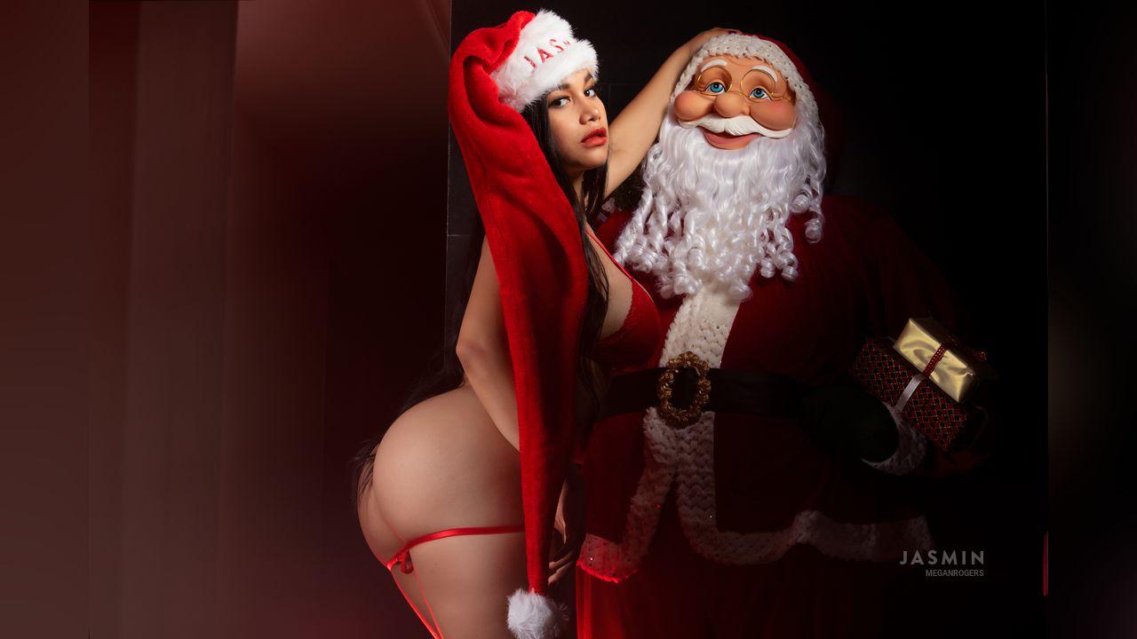meganrogers cam girl sexy santa